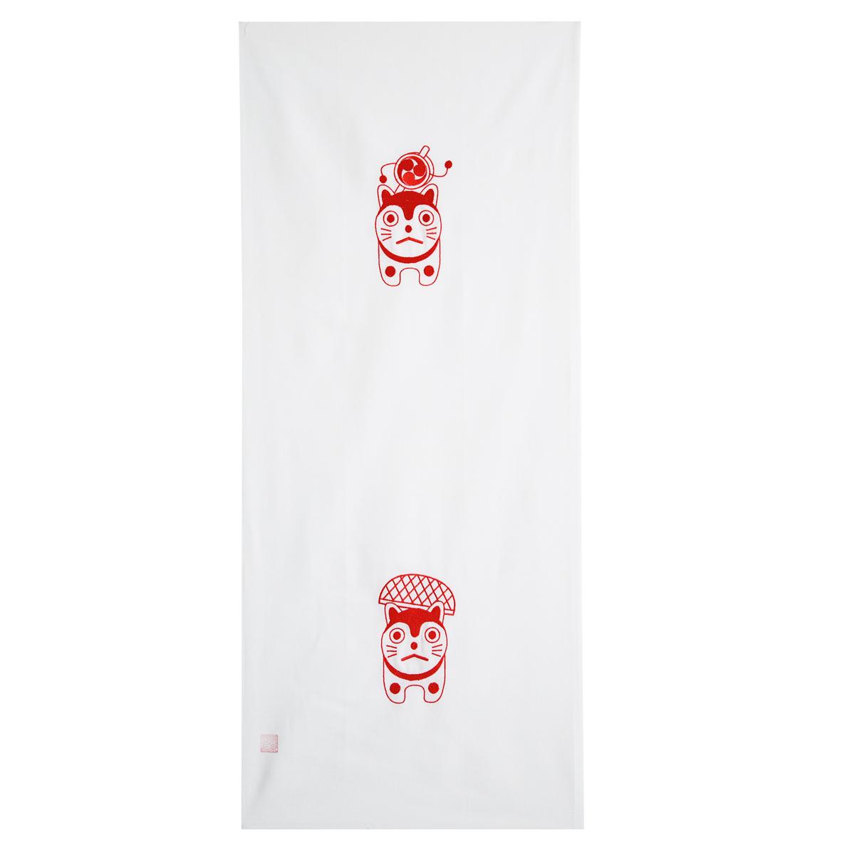 KY01-34W/手ぬぐい/こま犬〈白〉