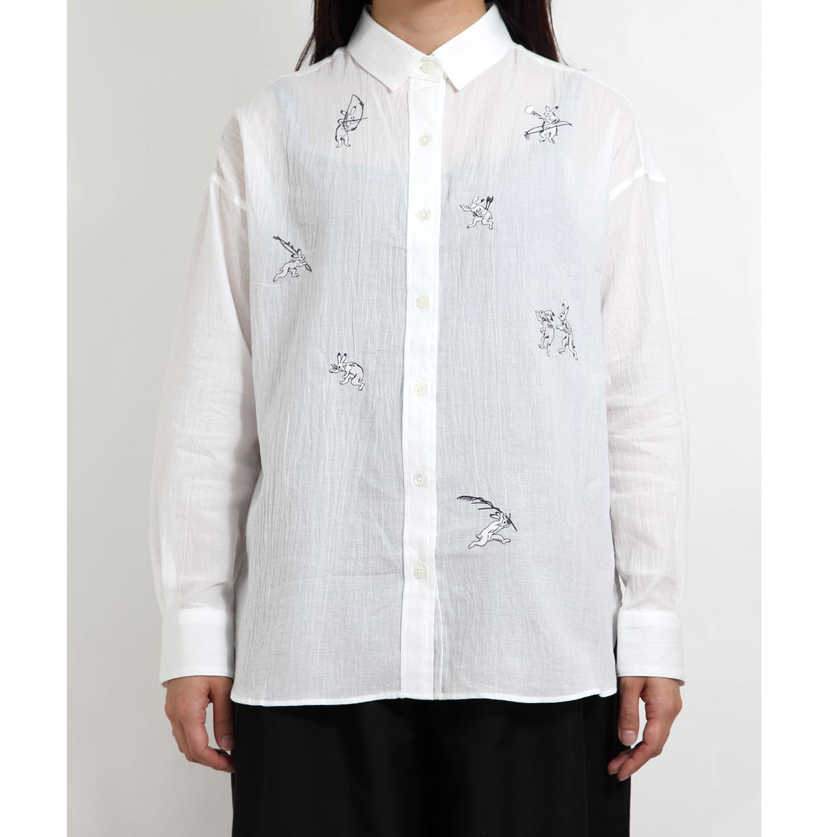 KY17-672/ドビーシャツ[播州織]/兎