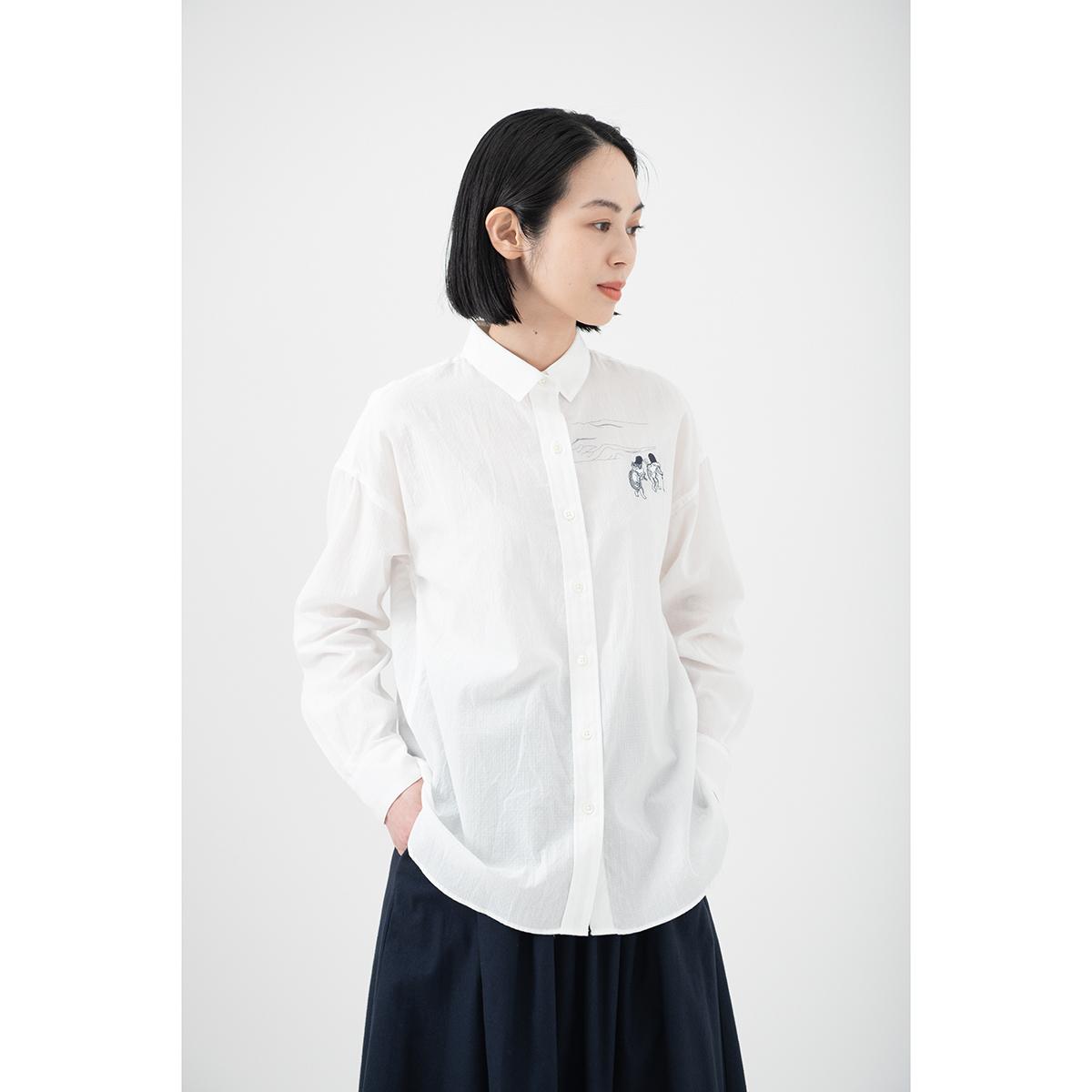 KY17-677A/ドビーシャツ[播州織]/蛙と猫