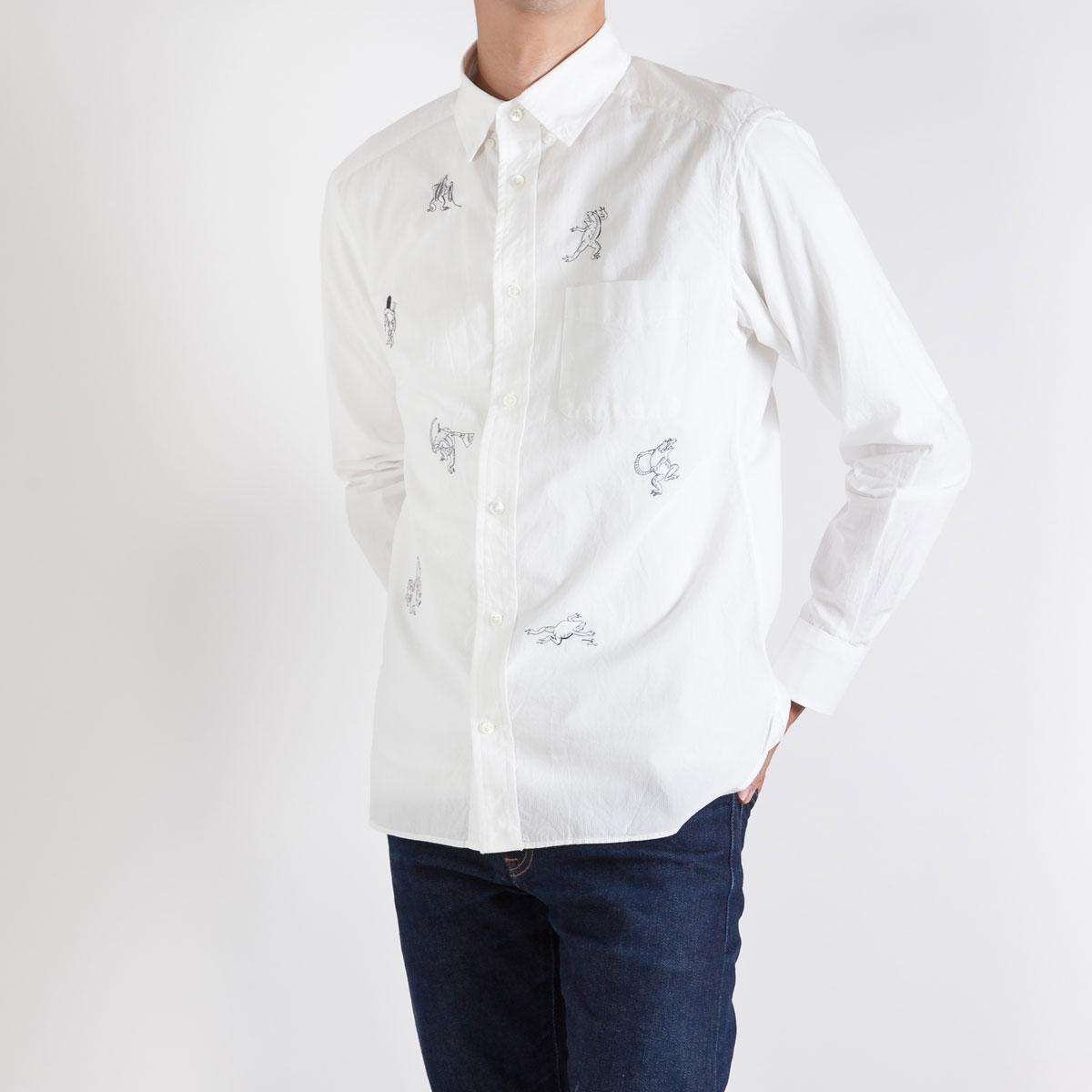 KY19-680M/メンズシャツ[播州織]/蛙