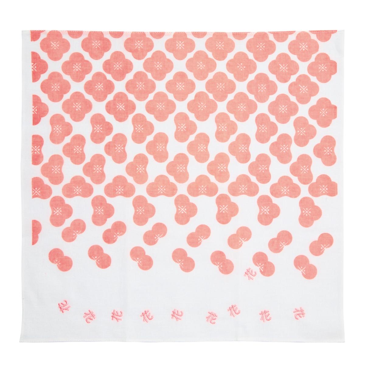 KY28-01P/ハンカチ/花〈ピンク〉/【6枚までゆうパケット可】