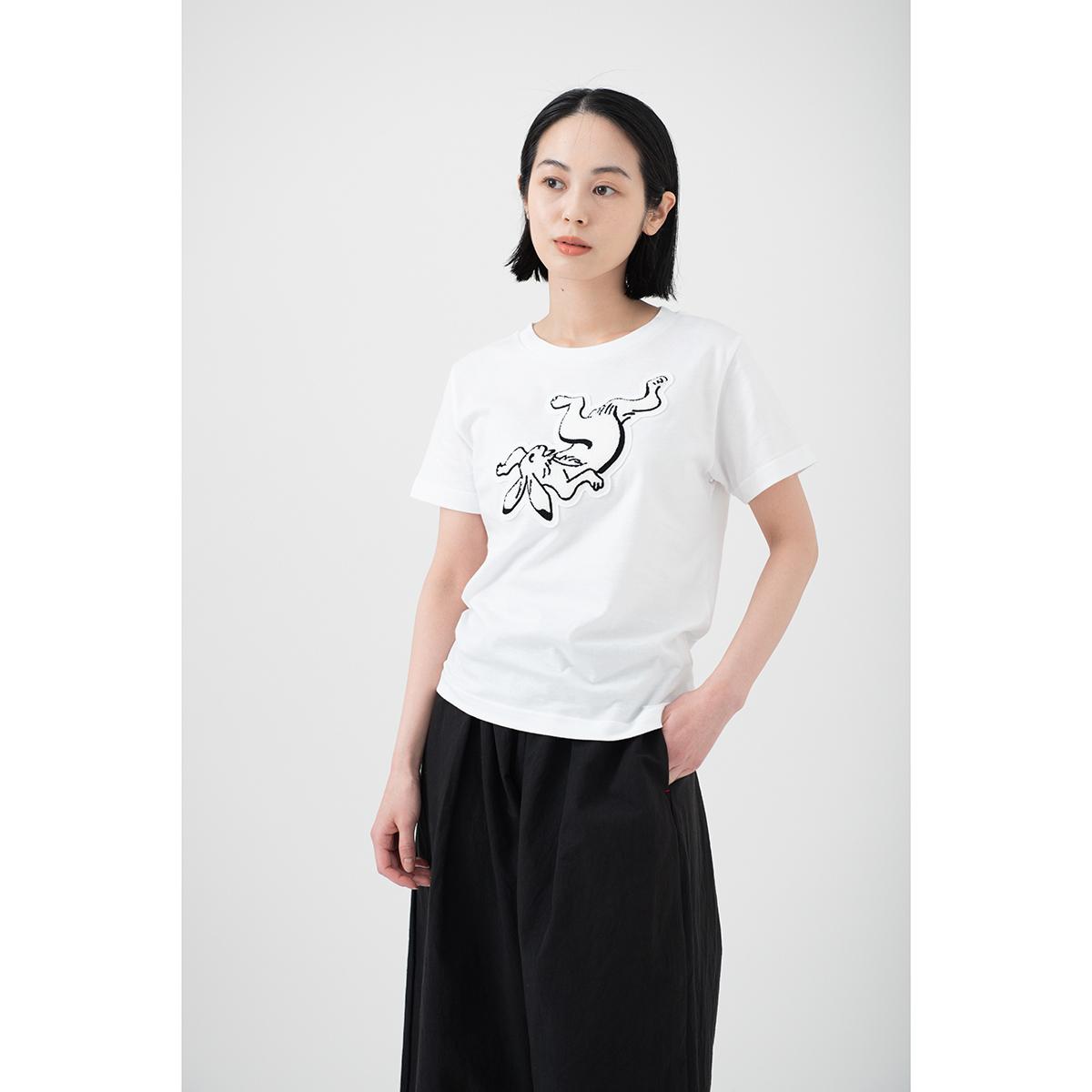 KY54-680R/Tシャツ(白)/兎