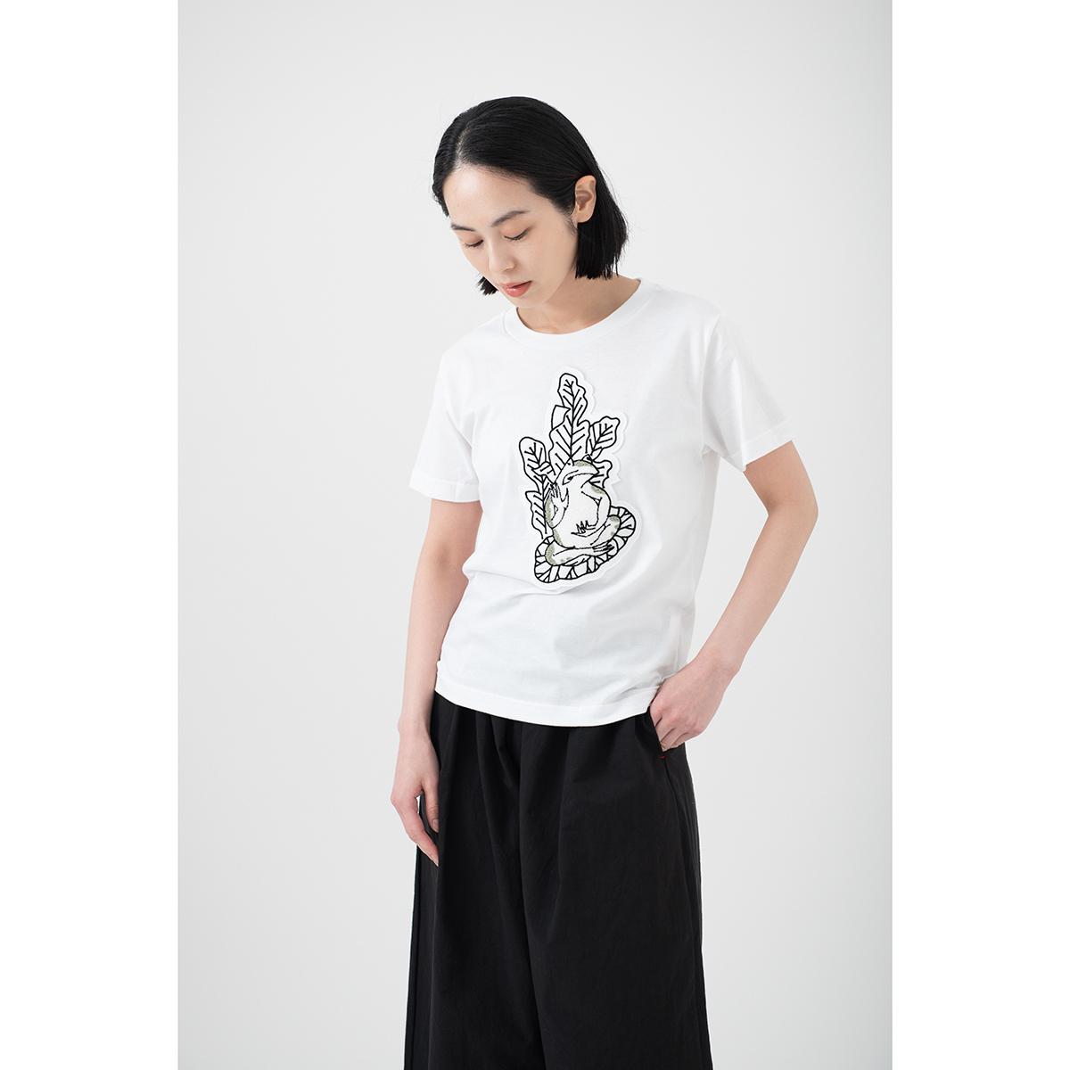 KY54-826/Tシャツ(白)/偽蛙仏