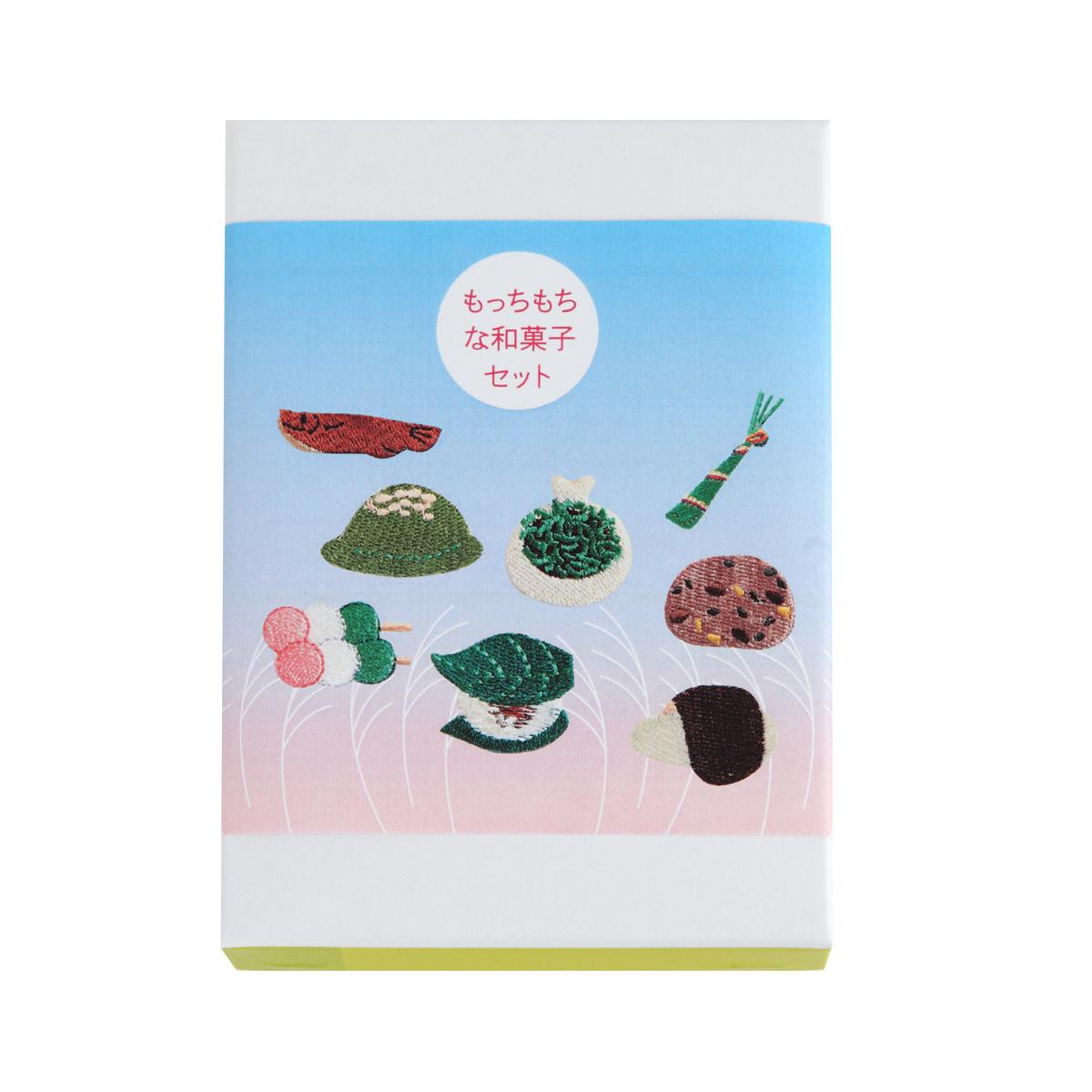 KY58-857B/ワッペンセット/もっちもちな和菓子