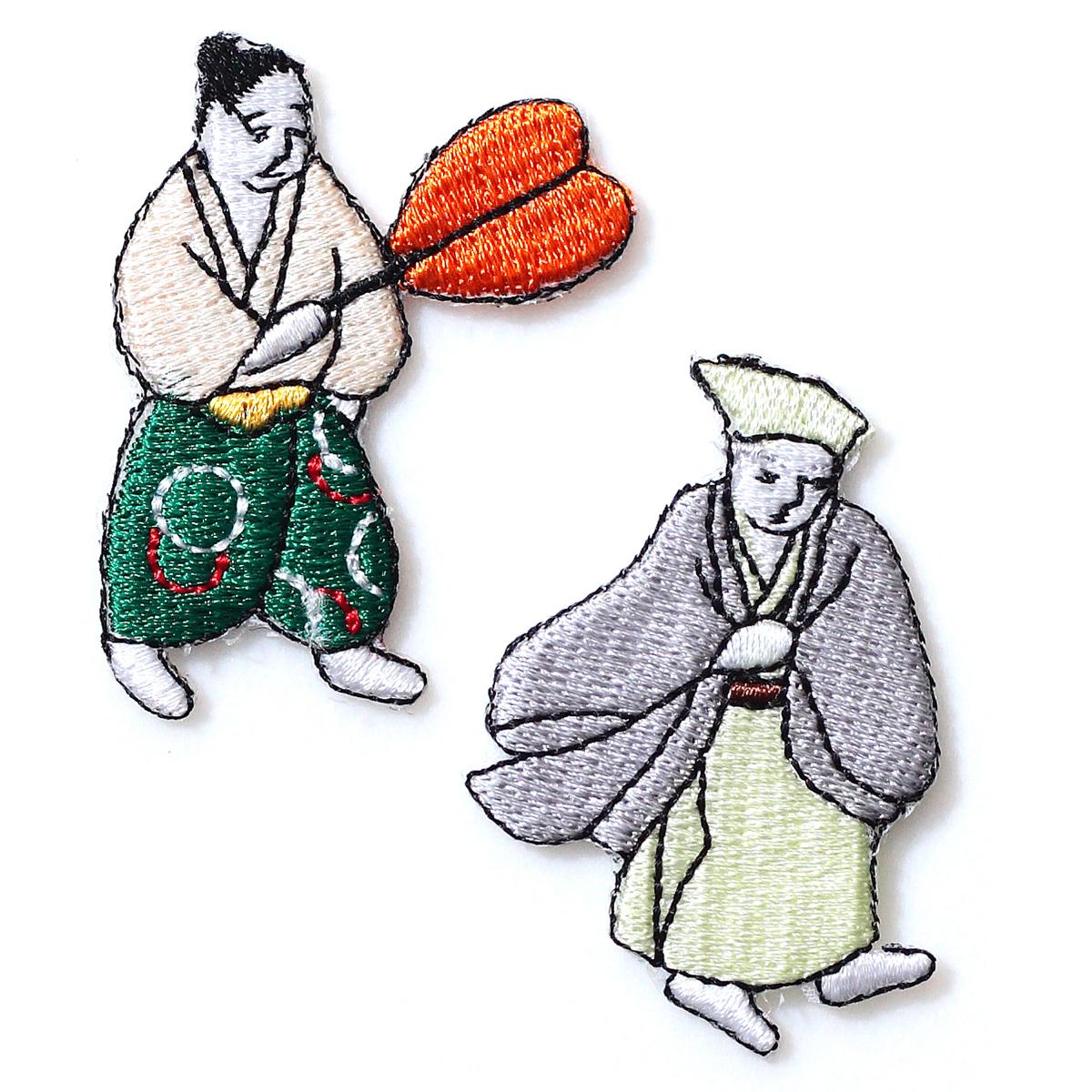 KYWS-054/ワッペン/ご隠居とお供/【ゆうパケット可】