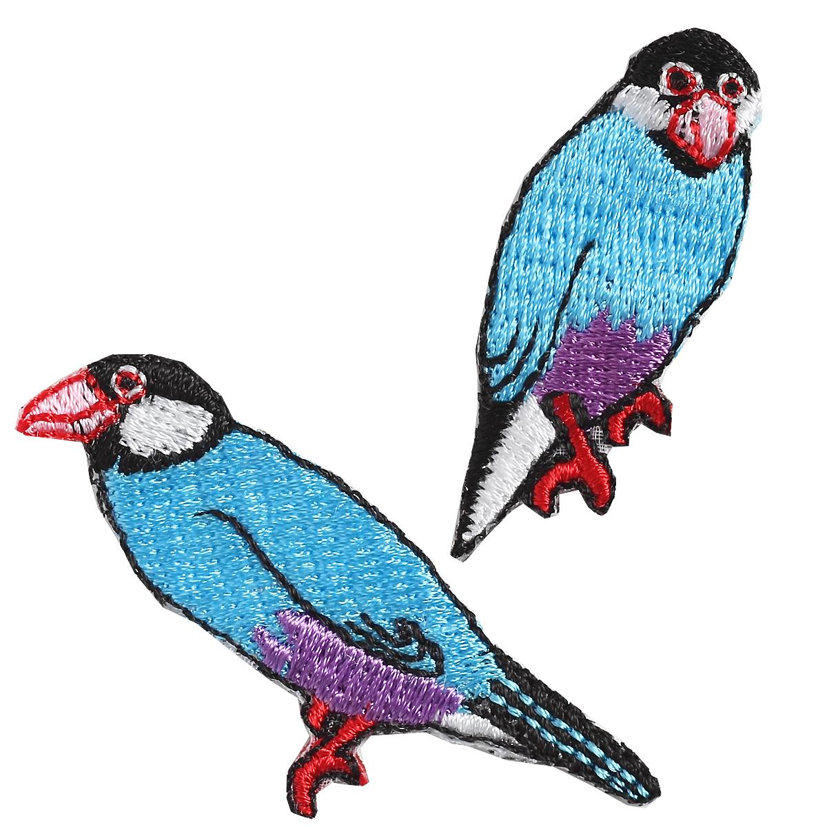 KYWS-702/ワッペン/文鳥/ぶんちょう/【DM便可】