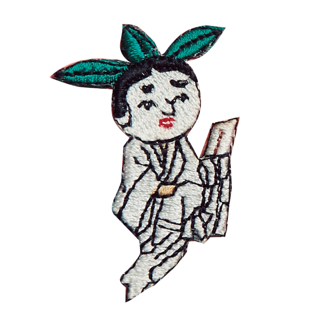 KHW-511/ワッペン/牛祭図魔多羅神/【ゆうパケット可】