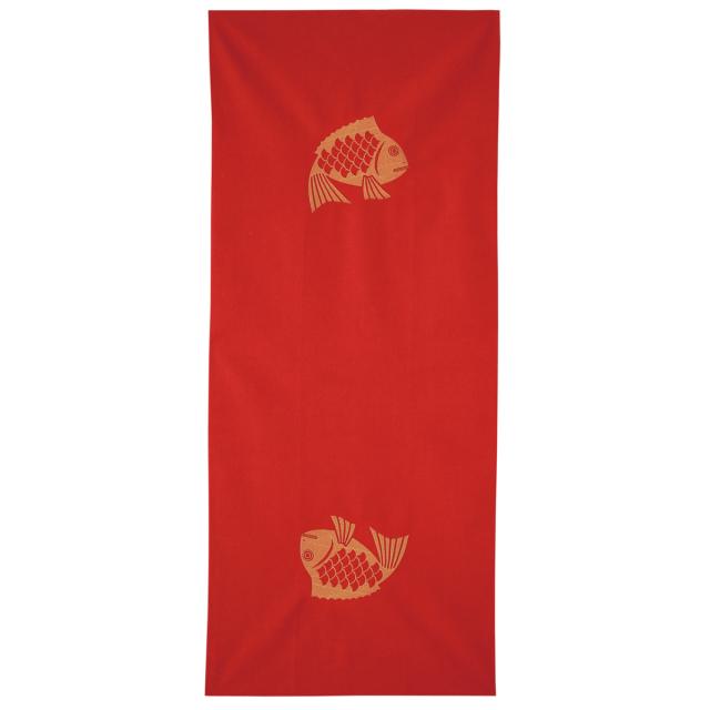 KY01-14R/手ぬぐい/めで鯛〈赤〉/【5枚までゆうパケット可】