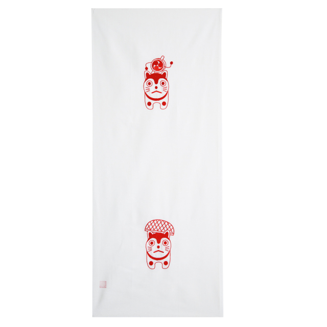 KY01-34W/手ぬぐい/こま犬〈白〉/【5枚までゆうパケット可】