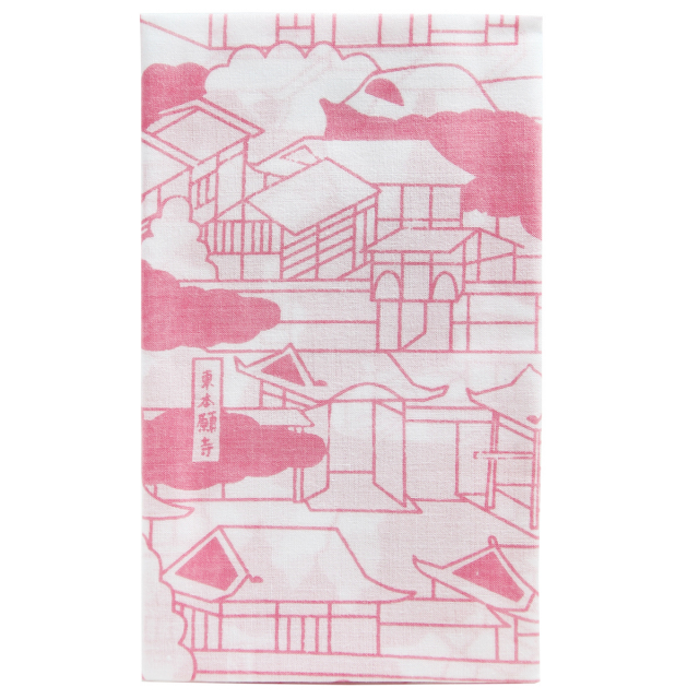 KY01-51P/手ぬぐい/東本願寺〈ピンク〉