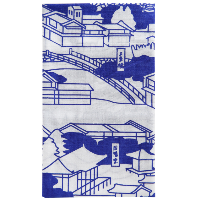 KY01-52N/手ぬぐい/五条橋〈青〉