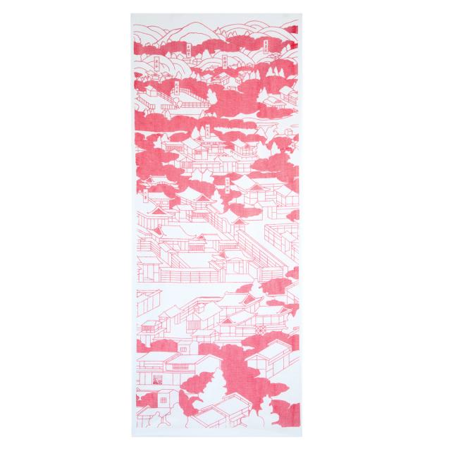 KY01-55P/手ぬぐい/南禅寺〈ピンク〉