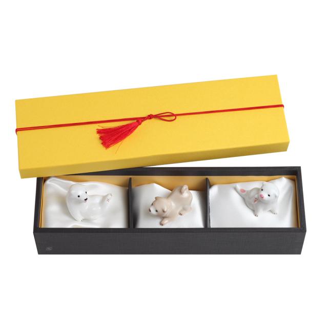 KY12-787B/Chopstick rest/A Set of 3 Puppies