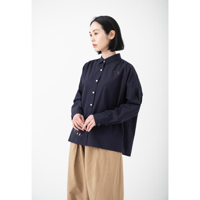 KY17-715/ドットワイドシャツ[播州織]/つばめ