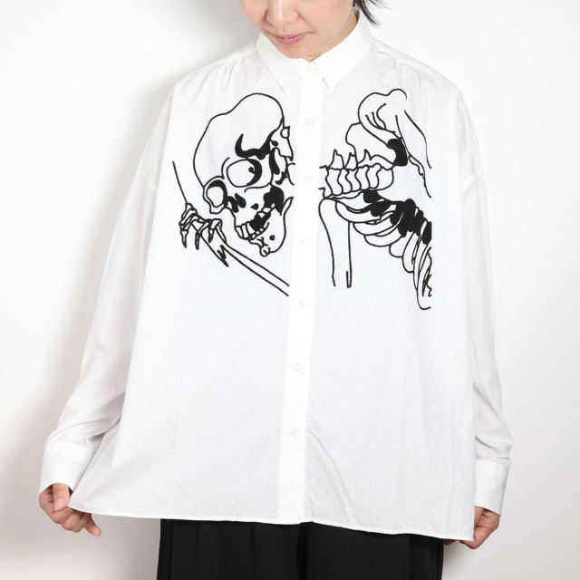 KY17-804W/ドットワイドシャツ[播州織]/相馬の古内裏