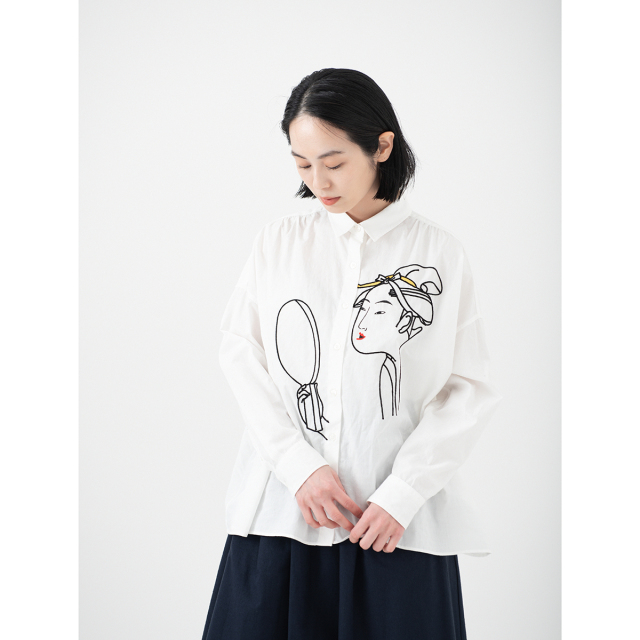 KY17-869/ドットワイドシャツ[播州織]/面白キ相