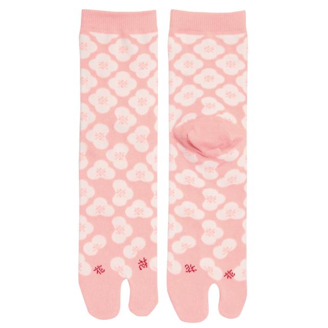 KY18-01P/足袋ソックス/花〈ピンク〉/【4足までゆうパケット可】