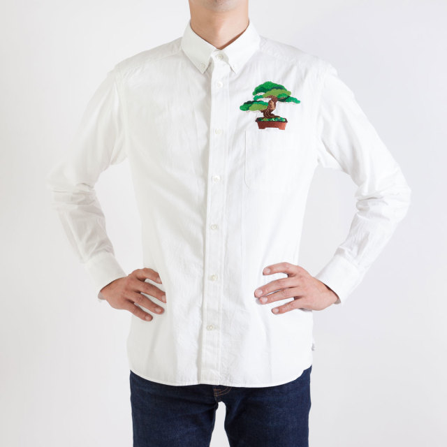 KY19-768WM/メンズシャツ[播州織]/五葉松