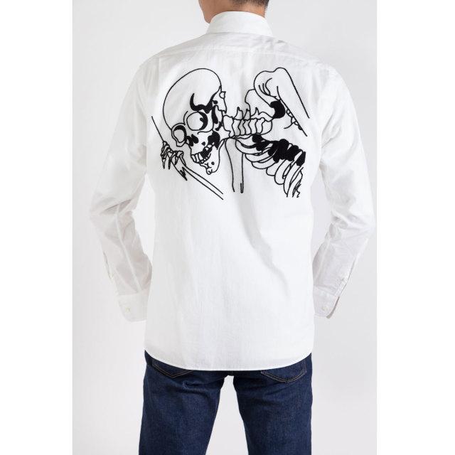 KY19-804M/Men's Shirt/Big Skeleton (Back)