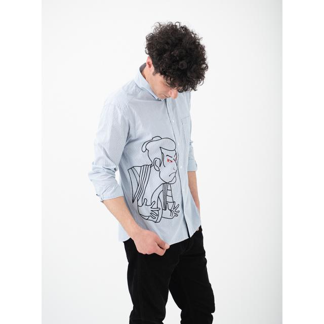 KY19-92/メンズシャツ[播州織]/江戸兵衛