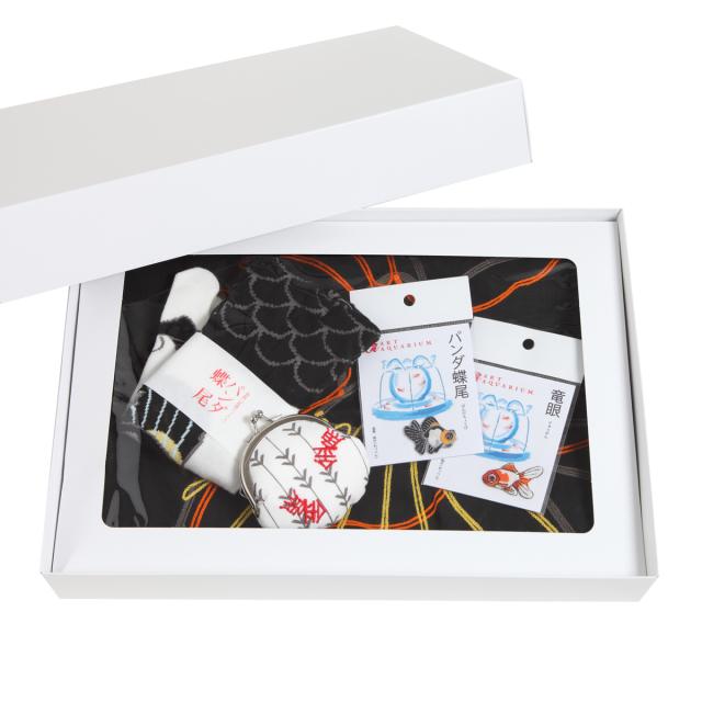 KY21-06B/夏のお得コーデ/金魚〈黒〉/ピンタックワンピース