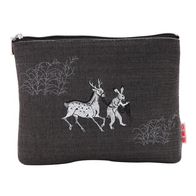 KY31-673/ポーチ/鹿をひく兎
