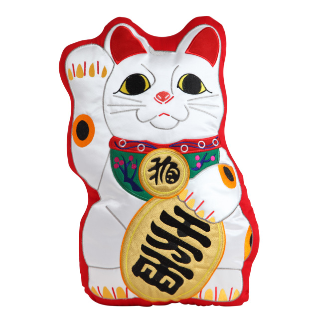 KY41-933R/ぬいぐるみ/招き猫 常滑焼(赤)/まねきねこ とこなめやき