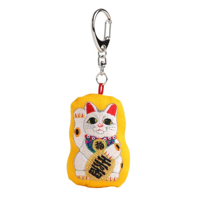 KY42-933/キーホルダー/招き猫 常滑焼/まねきねこ とこなめやき