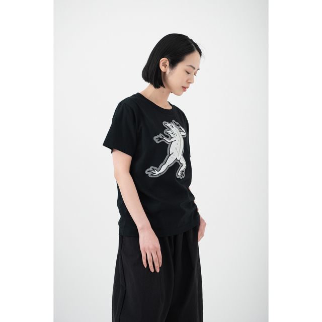 KY54-680F/Tシャツ(黒)/蛙