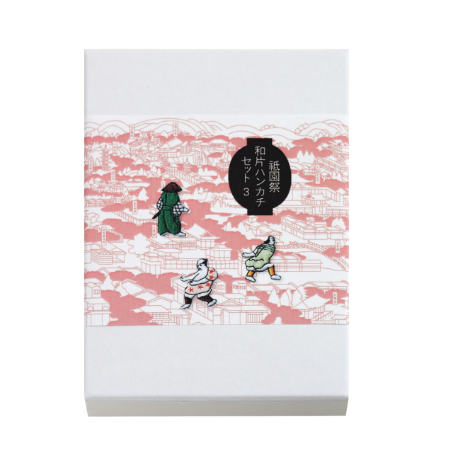 KY58-042/祇園祭ハンカチワッペンセット/鉾引きと蟷螂山