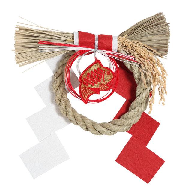 KY69-14/正月飾り/丸形めで鯛