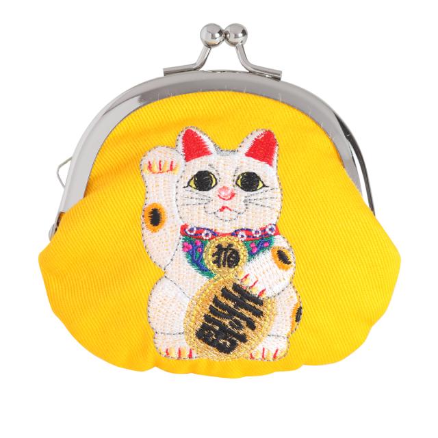 KY70-933/ミニがま口/招き猫 常滑焼