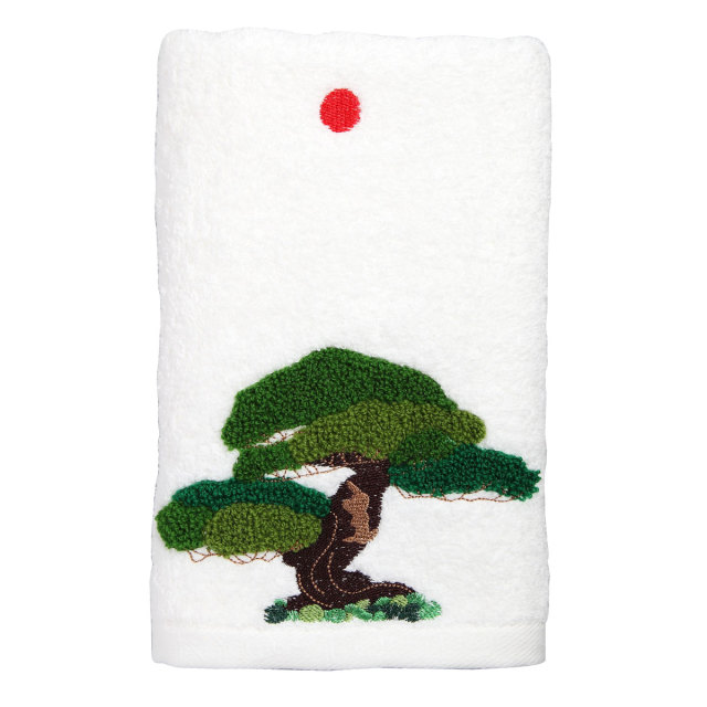 KY72-768A/Face Towel/Japanese White Pine (White)