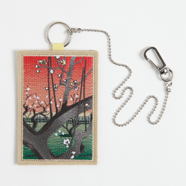 KY74-870/パスケース/名所江戸百景亀戸梅屋舗