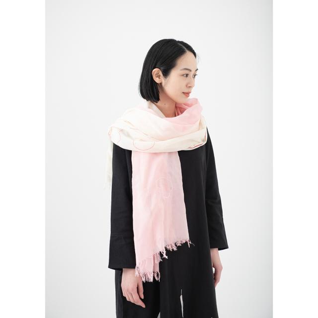 KY78-877/絞りストール[播州織]/桜