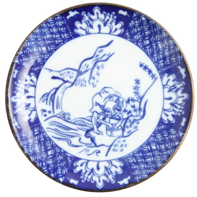 KY86-189/印判4寸小皿/小豆洗い/あずきあらい