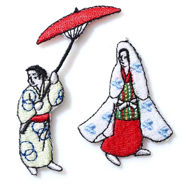 KYWS-024/ワッペン/お嬢と傘持/【DM便可】