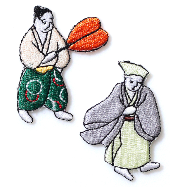 KYWS-054/ワッペン/ご隠居とお供/【DM便可】