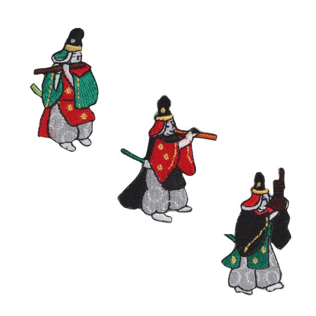 KYWS-069/ワッペン/雅楽(龍笛、鳳笙、篳篥)/【ゆうパケット可】