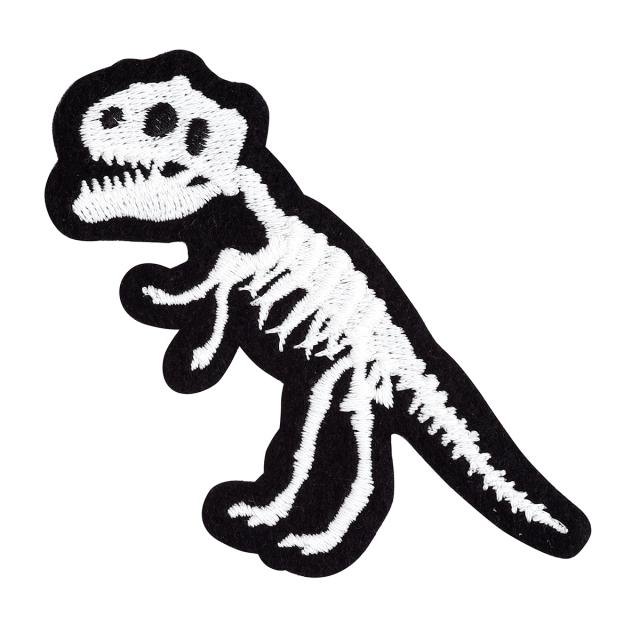 KYWS-1010/ワッペン/ティラノザウルス骨格/【ゆうパケット可】