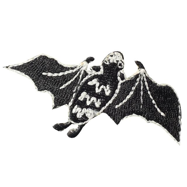KYWS-127/ワッペン/蝙蝠/こうもり/【ゆうパケット可】
