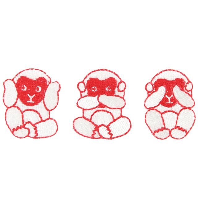KYWS-382/ワッペン/三猿