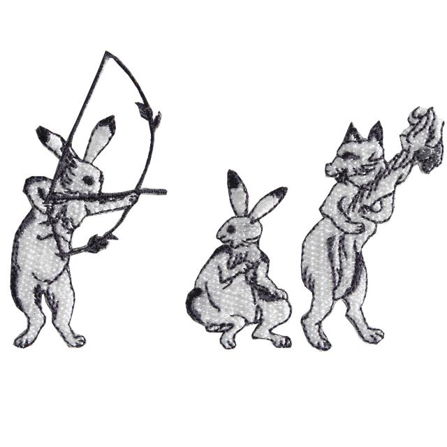 KYWS-671/ワッペン/尻尾を燃やす狐/しっぽをもやすきつね/【DM便可】