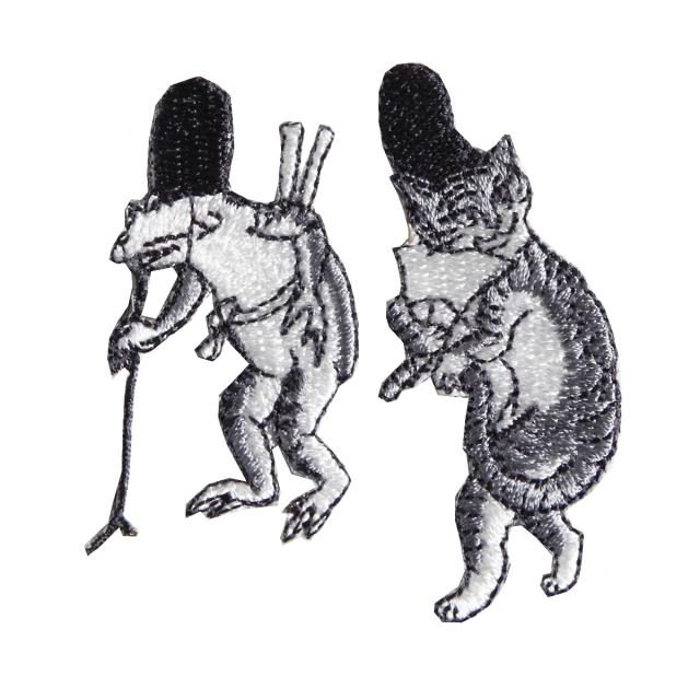 KYWS-677/ワッペン/蛙と猫/【DM便可】