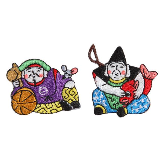 KYWS-700/ワッペン/えびす大黒/【DM便可】