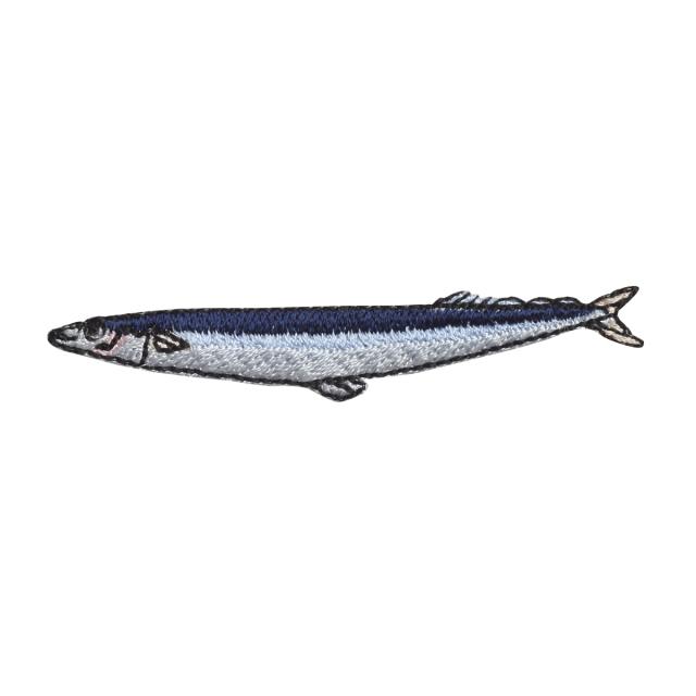 KYWS-751/ワッペン/秋刀魚/さんま/【ゆうパケット可】