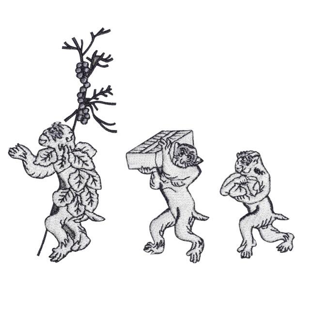 KYWS-828/ワッペン/双六と猿/すごろくとさる/【DM便可】