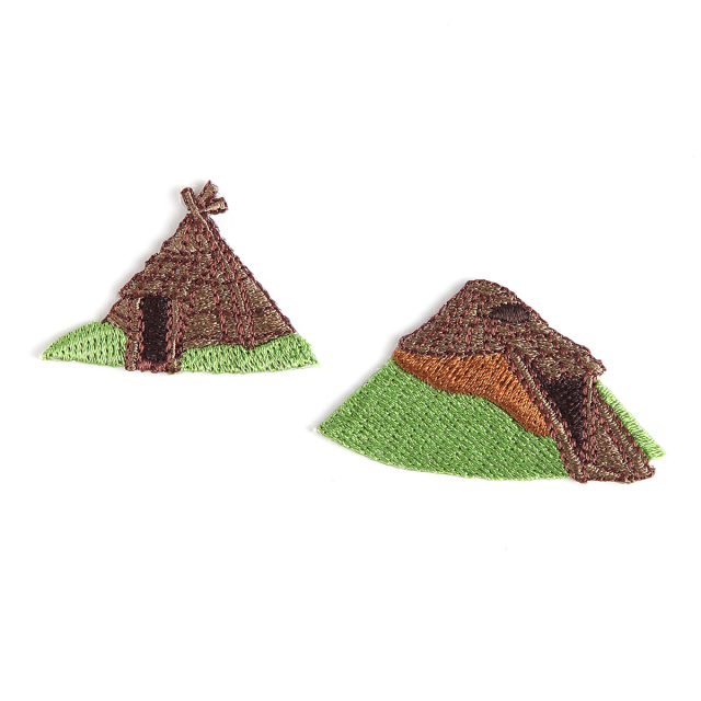KYWS-893/ワッペン/竪穴住居セット1/【ゆうパケット可】