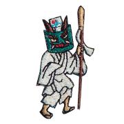 KHW-513/ワッペン/牛祭図青鬼/【DM便可】