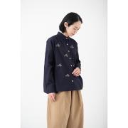 KY17-72/ドットワイドシャツ[播州織]/白梅
